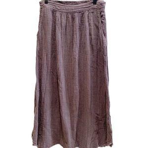 It Is Well LA Taupe Organic Cotton Maxi Skirt  L